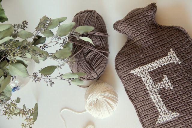 creJJtion: Crochet Hot Water Bottle Cover
