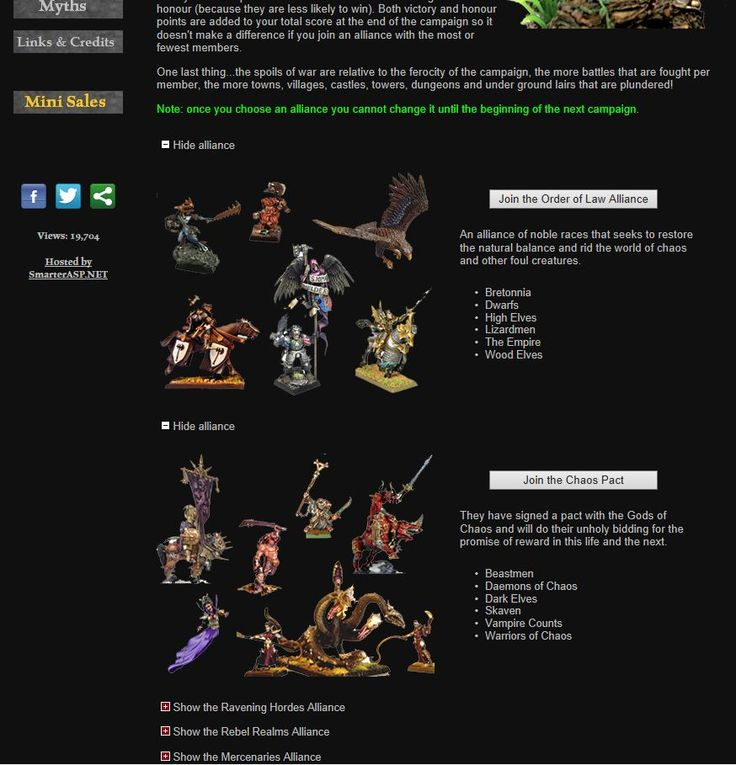 Alliances Page - www.wfbattles.com