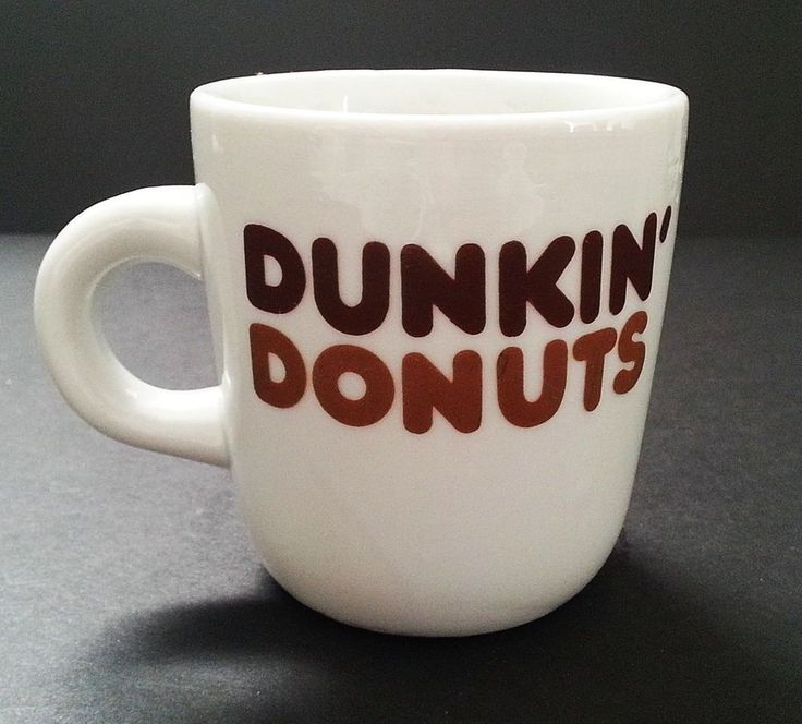dunkin donuts mug vintage logo 8 oz counter coffee tea