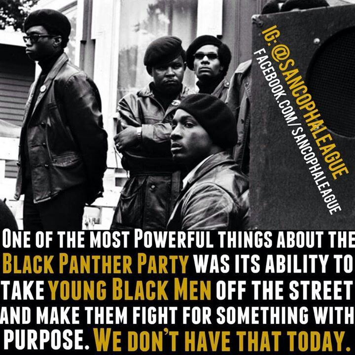 One of the most powerful things about the Black Panther Party was its ability to take young Black men off the street....
