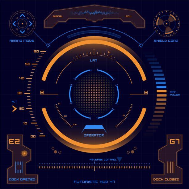 Set Of Futuristic User Interface Elements For Dashboard Or Control Touch Screen Design User Interface Futuristic