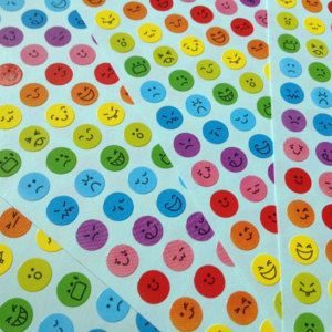 Rainbow day happy face sticker facial expression icon funny emoticons happy smiley face cartoon face icon diary sticker deco card scrapbook
