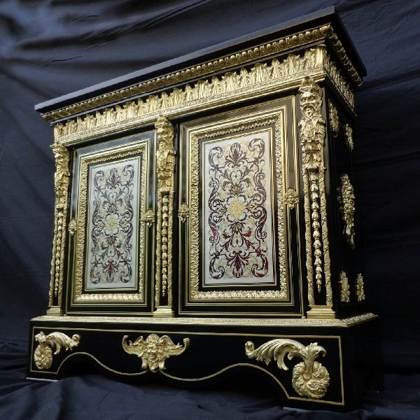 Cabinet Boulle Marquetry Brass and Tin Napoleon III
