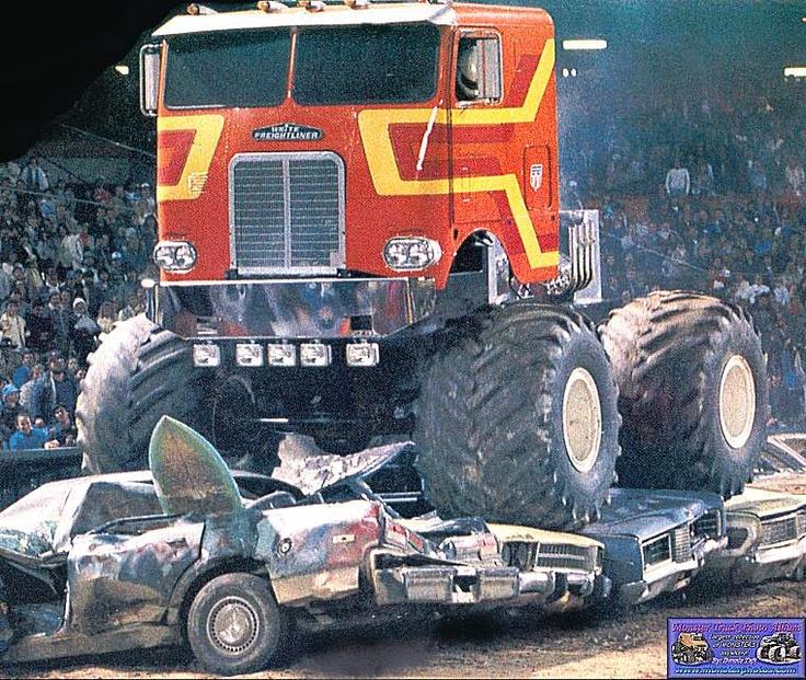 Custom Pickup Trucks >> destroyer 1 monster semi | Monster truck cars, Freightliner trucks, Pickup trucks