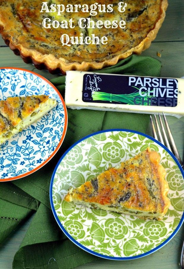 Spring is almost here. What better way to welcome it than with a creamy asparagus and goat cheese quiche.  A wonderful vegetarian, breakfast, brunch, lunch or dinner.