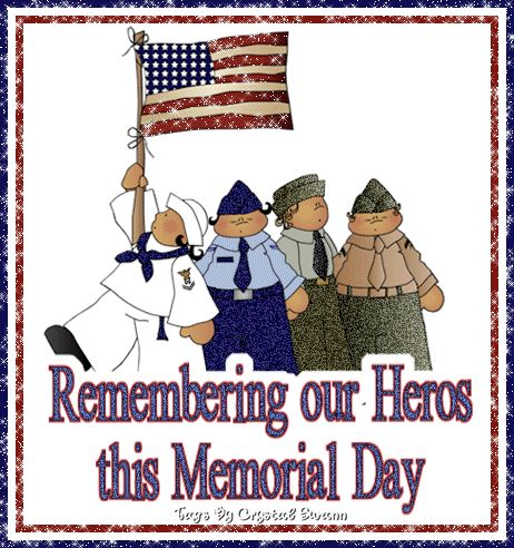 Happy memorial day weekend glitter graphics 2016 memorial day decoration images pictures pics photos of brave soldiers US armed forces cliparts wallpapers.Happy memorial day graphics,happy memorial day glitter images.
