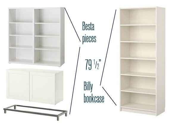 37 Cheap And Easy Ways To Make Your Ikea Stuff Look Expensive http://www.centsationalgirl.com/2013/01/besta-billy-brass-bookcases/