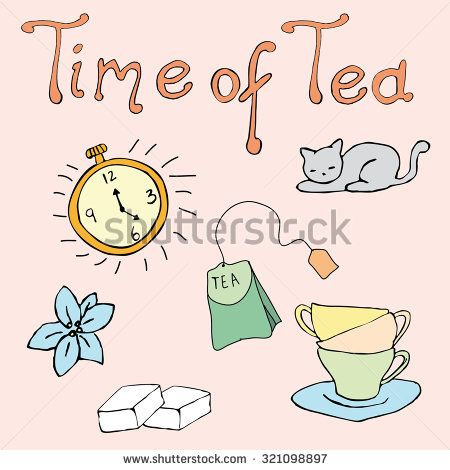 time of tea color - stock vector