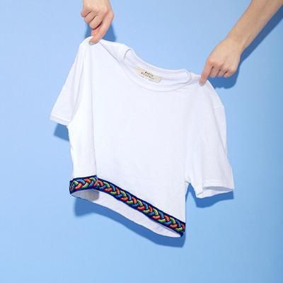 Classic white tee…with a twist! #UrbanOutfitters #UrbanOutfittersxCovetMe #covetme