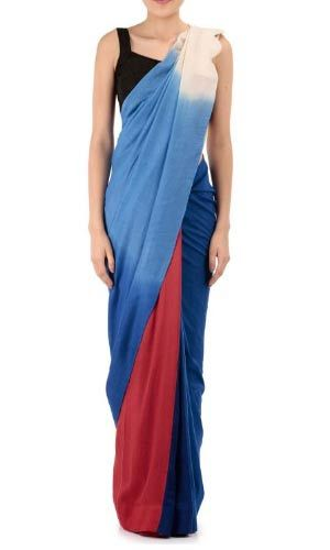 أحدث موديلات الساري الهندى 2017: طيات مختلفة الالوان Latest Designer Sarees for 2017:Different Colored Pleats Dernières saris Designer pour 2017: Plis de couleur différente