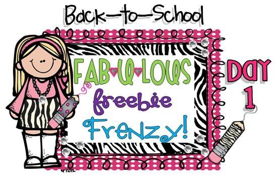 First Grade Fever!: Day 1...FAB*U*LOUS FREEBIE FRENZY!