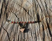 Apoline - Necklace Wood + Cotton  Boho Colorfull available in various color on Etsy - by Wild Cloud #boho #hippie #bracelet #wildcloud#triangle