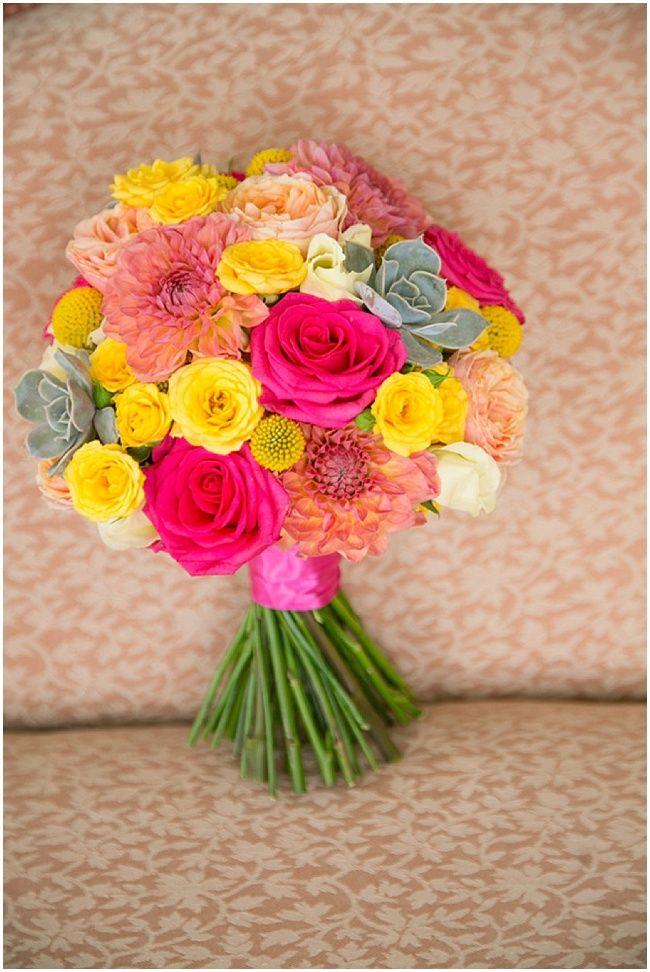 colourful wedding bouquet by The Rose Shed via Joyful Jamaican-English Nigerian Wedding |Martin Dabek Photography - Nu Bride