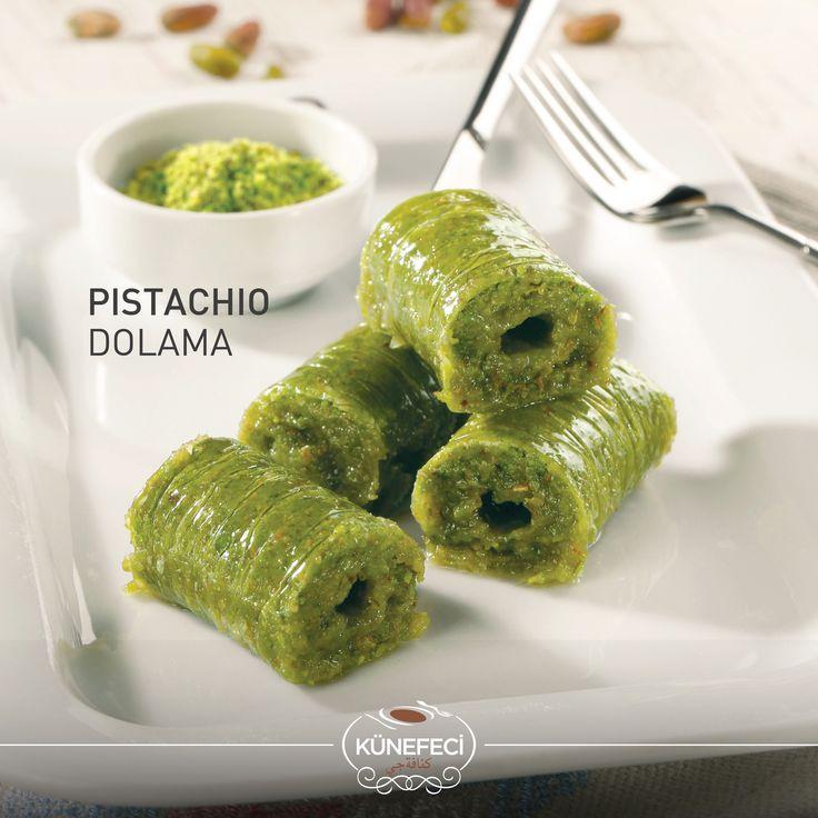 'The Best of Künefeci™'s Cuisine' 'Pistachio Dolama' by Künefeci™  ... #kunefe #kanafeh #traditional #pastry #baklava #pistachio #Turkish #Künefeci #SaudiArabia #Bahrain #Turkey #pinterest #tuesday