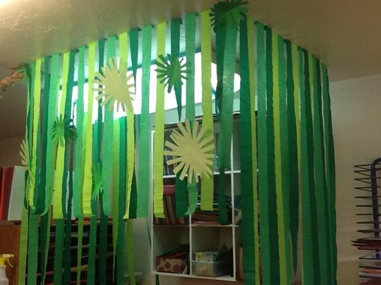 13 best images about preschool safari on pinterest for Rainforest decorations