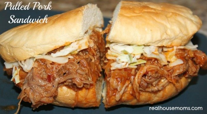 These delicious pulled pork sandwiches with carmelized onions will make your guests very happy!