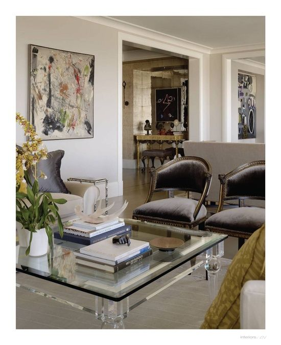 House Tour:  Pacific Heights Residence - gray velvet chairs - Candace Cavanaugh Design