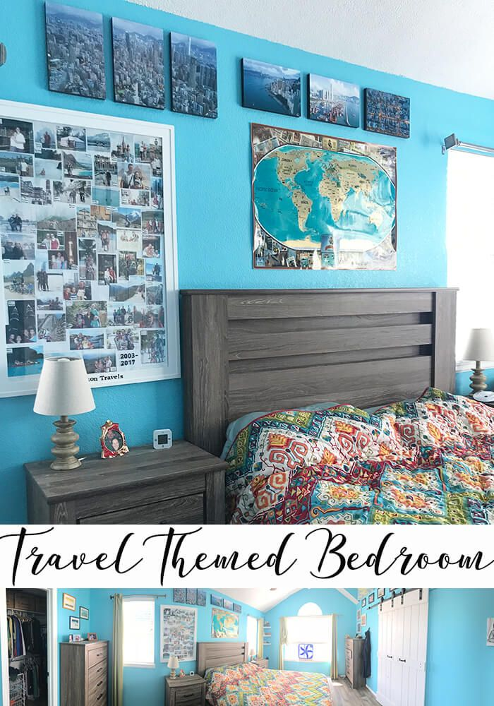 Travel Themed Bedroom Ideas And Inspiration For Travel Home Decor From Life Sew Savory Travel Themed Bedroom Bedroom Themes Remodel Bedroom