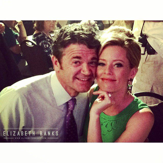Pin for Later: Pitch Perfect 2: Check Out All the Behind-the-Scenes Fun  Yes! Banks showed us that John (John Michael Higgins) and Gail would be making another appearance. Source: Instagram user elizabethbanks