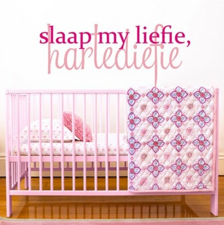 Pink & Posh Slaap my Liefie Vinyl Wall Art Available at 5rooms.com