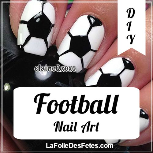 DIY ∼ Nail Art : Football