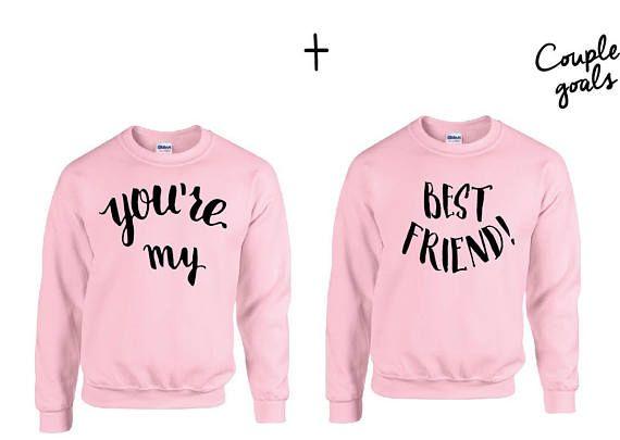 2 x Unisex You are my best friend Couple Sweatshirts mit hochwertigem Print . Vorhandene Größen : S-XXL Größentabelle : Länge des Sweatshirts in cm S 66,04 M 68,58 L 71,12 XL 73,66 XXL 76,2 Breite des Sweatshirts in cm S 50,8 M 55,88 L 60,96 XL 66,04 XXL 71,12 Alle Motive in