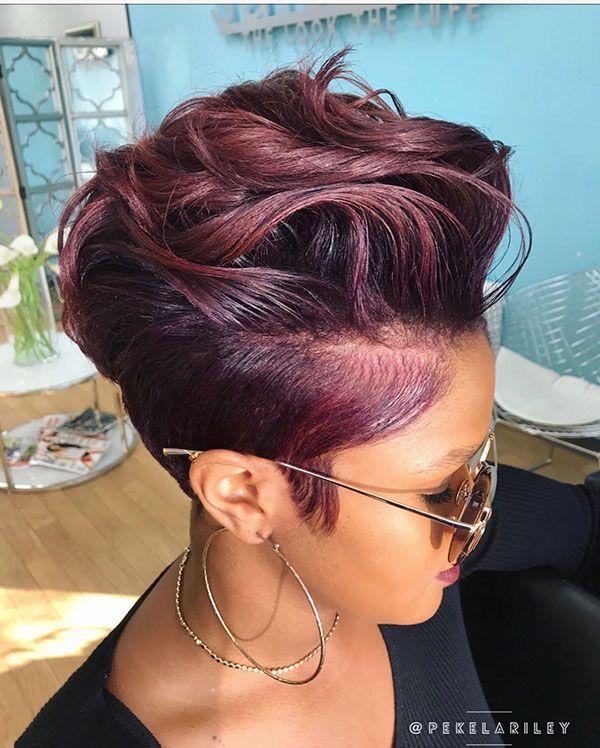 50 Short Haircuts for Black Women 2019 #haircut #haircutideas #hairstyle #haarsc…