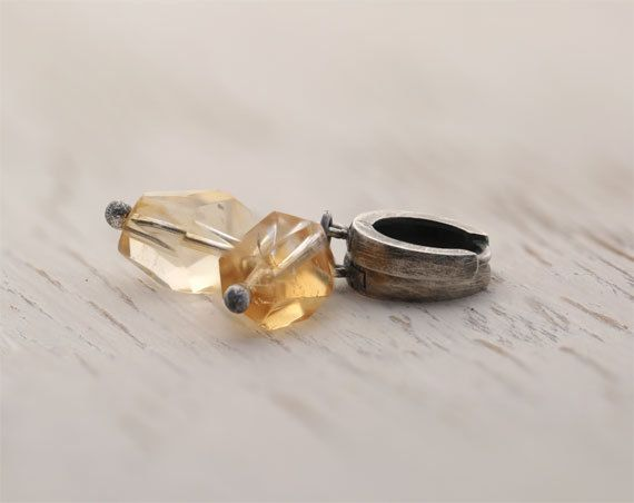 Citrine earrings, sterling silver earrings, golden yellow citrine earrings, everyday earrings, summer earrings, november birthstone by SylviaArtGallery on Etsy https://www.etsy.com/listing/195653789/citrine-earrings-sterling-silver