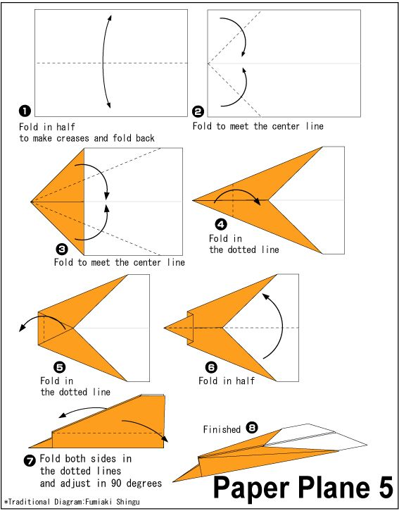Easy Origami Paper Plane 5 Pinterest And