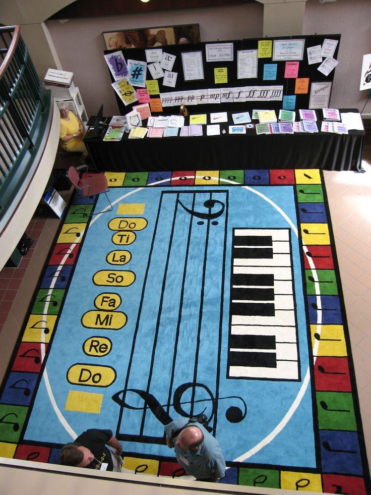Music Rug For Classroom Home Decor