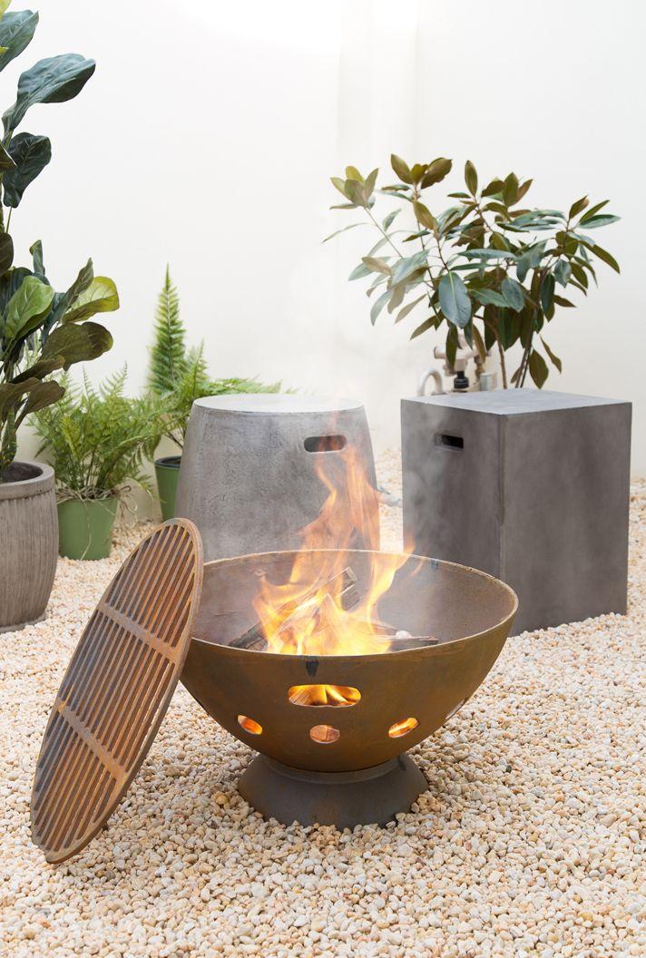 Sahara 55cm Cast Iron Fire Pit Cast Iron Fire Pit Iron Fire Pit