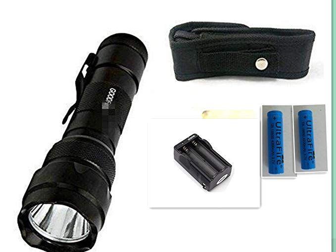 XML-T6 Tactical Flashlight 18650 Battery Xtar Holster Charger