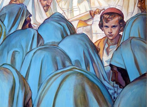 Holy Family   2016   Catholic Mass Readings   about-his-fathers-business-rose-datoc-dall-2012-rose-datoc-dall.jpg    Lc 2:46-47   After three days they found him in the temple, sitting in the midst of the teachers, listening to them and asking them questions, and all who heard him were astounded at his understanding and his answers.