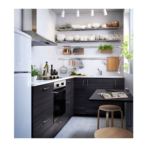 Tingsryd puerta efecto madera negro kitchens kitchen for Kitchen cabinets reno