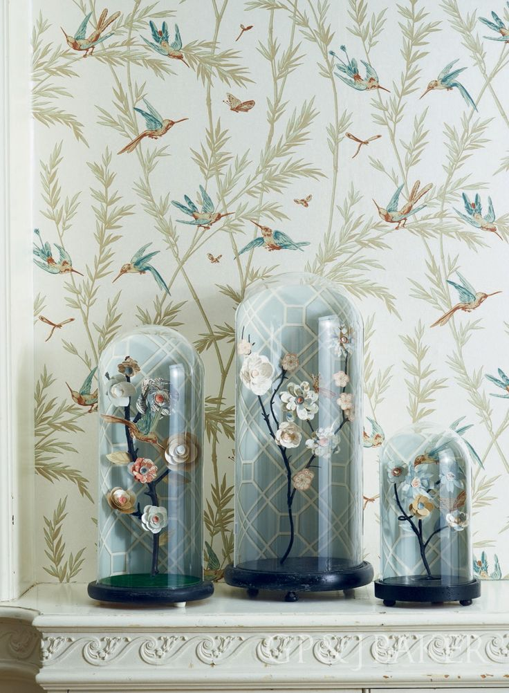 Wallpaper is 'Water's Edge' from the Langdale Collection by GP & J Baker.