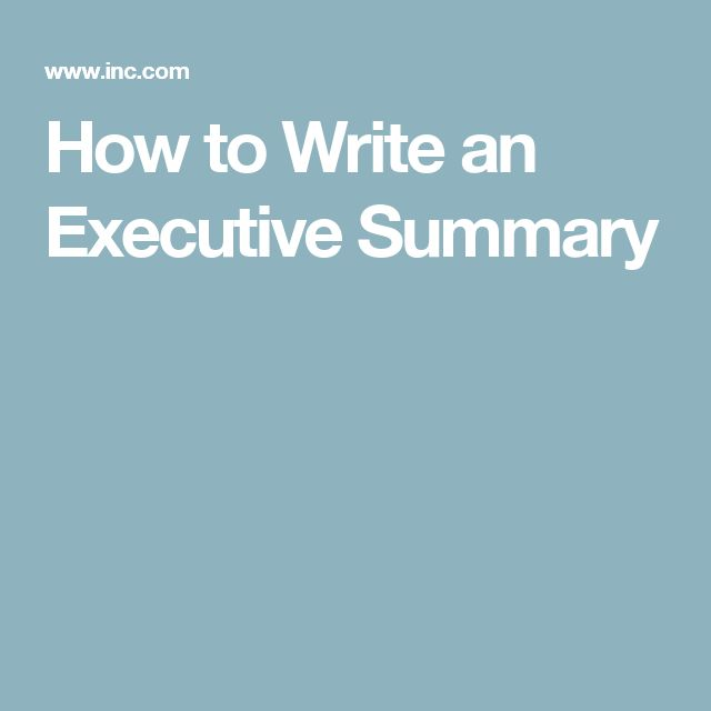 The 25+ best Executive summary ideas on Pinterest Writing a - sample executive report
