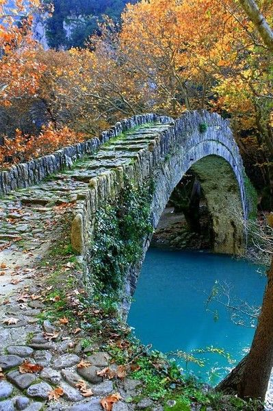 bridge...Stones Bridges, Walks, Paths, Autumn, Greece, The Bridges, Places, Dreams Cottages, Ancient Stones