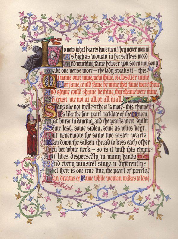 Tennyson - Idylls of the KIng Page 3.jpg 591×792 pixels