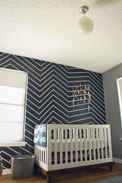 skewed chevron wall #apartmenttherapy