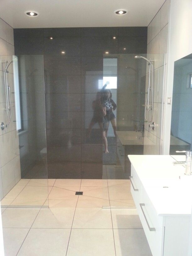 Tile & glass double shower in ensuite