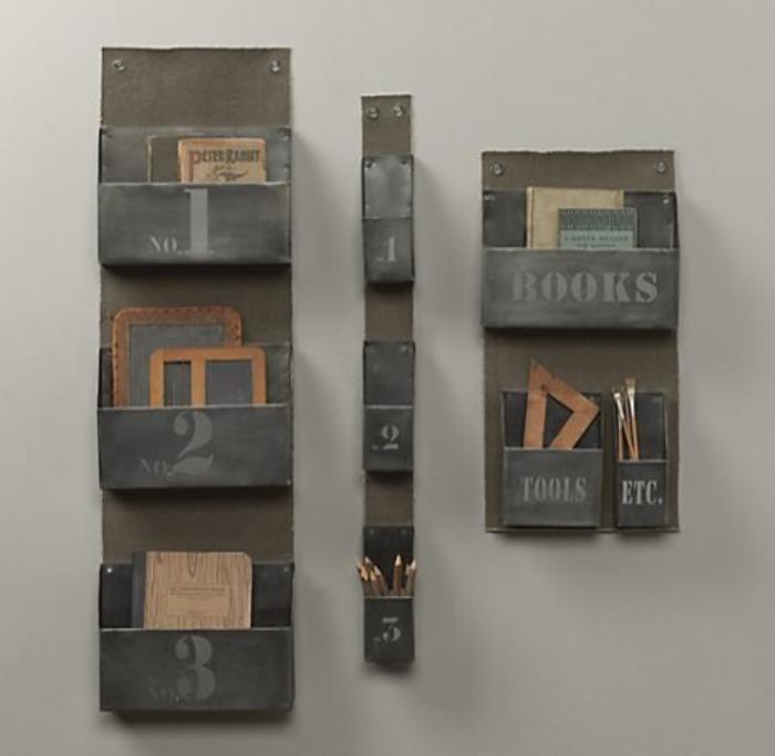 vide poche mural, petites étagères vide poches métalliques