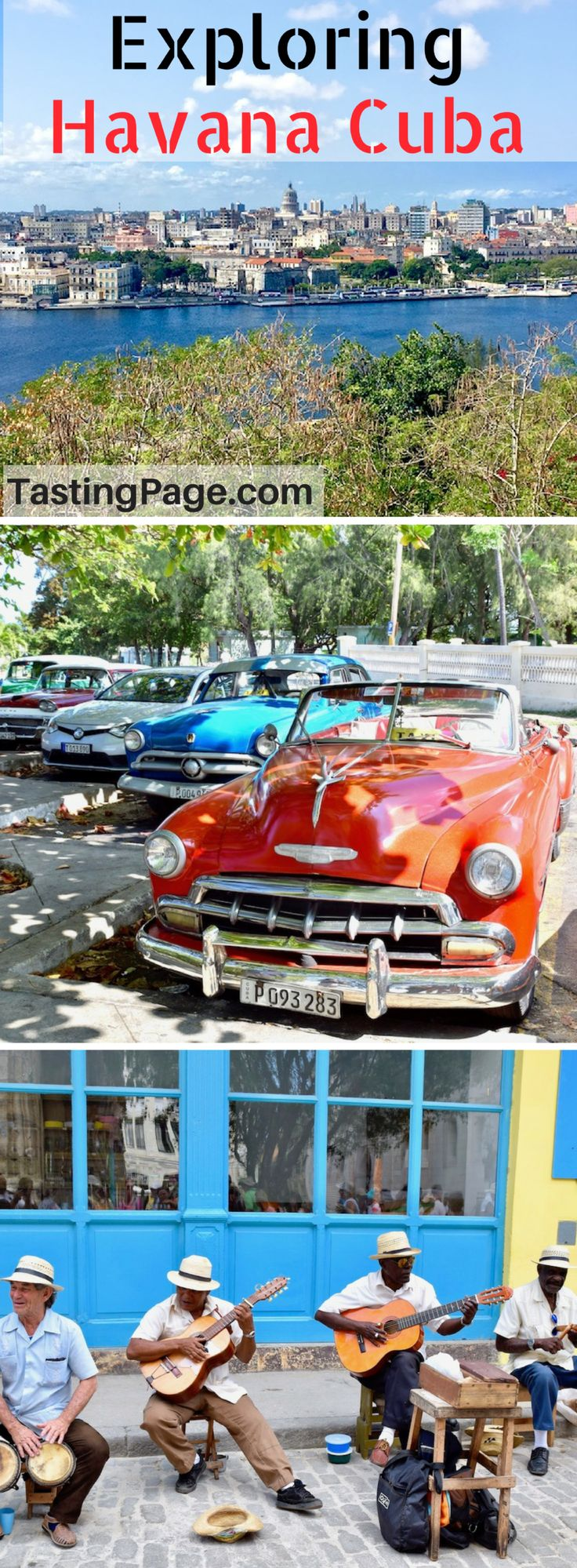 Havana Cuba is a new travel destination for Americans, and a visit provides a unique glimpse into a vibrant and colorful culture. Here's what to see and do on your first visit to Havana Cuba | TastingPage.com