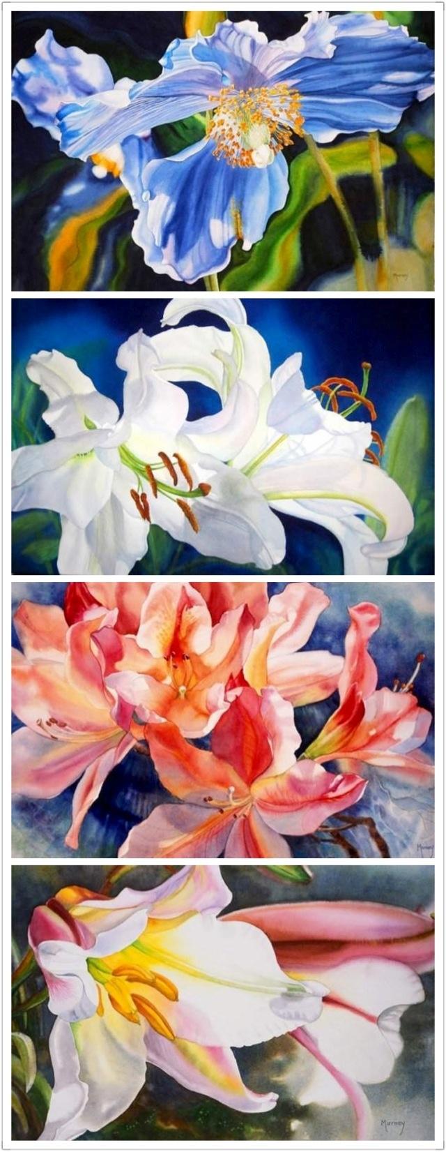 By Marney ward - watercolor flower