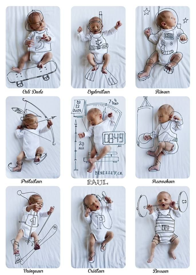 Photos of your baby, a pen, and a little creativity - Have fun and create an extra special birth announcement!