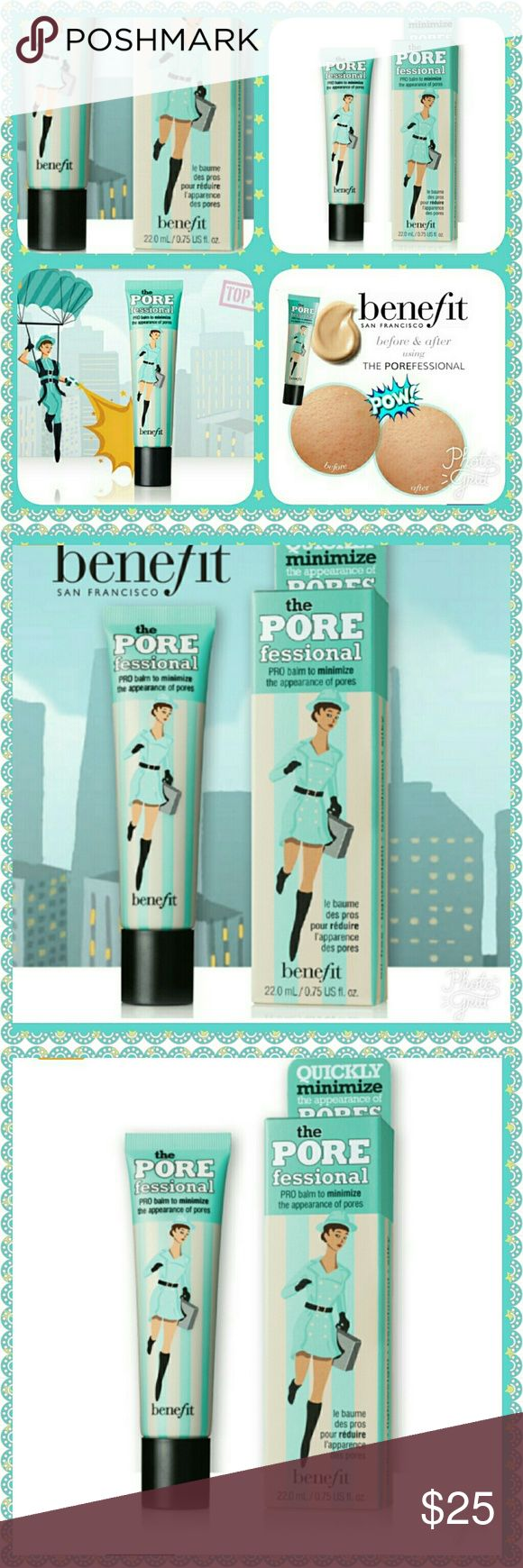 🆕 BENEFIT THE PORE PRO PROFESSIONAL BALM MAKE UP PRIMER ! QUICKLY MINIMIZE OF PORES AND FINE LINES FOR SMOOTHER - THAN - SMOOTH SKIN ! APPLY THIS SILKY, LIGHT WEIGHT BALM ALONE, UNDER OR OVER MAKE UP.  COMPLEMENTS ALL SKIN TONES. Benefit Makeup