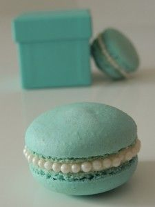 Once Upon A Pie | Tiffany Blue Macarons