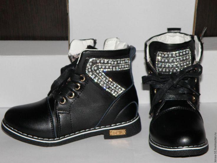 Купить Ботинки для девочки - черный, ботинки для девочки, обувь, обувь для…