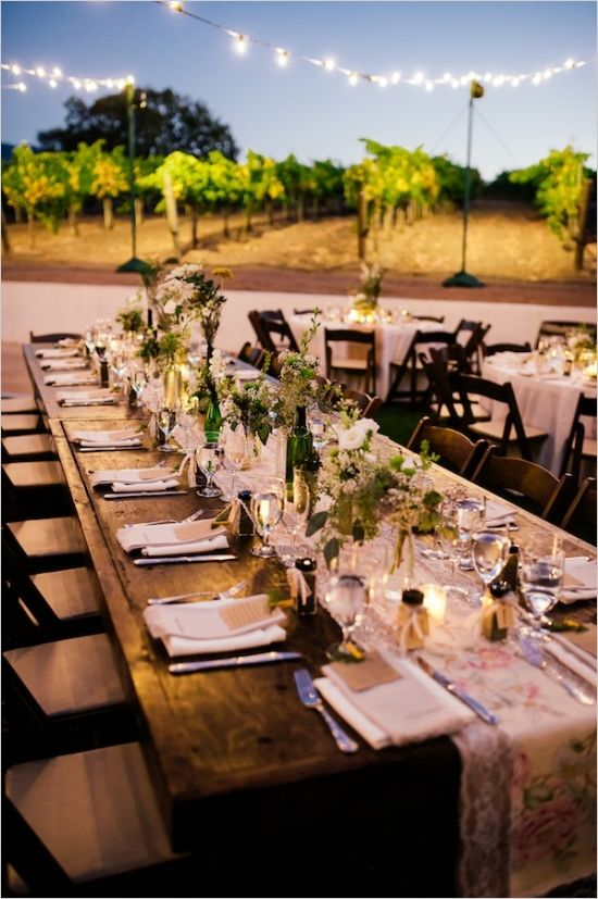 Shabby Chic Winery Wedding