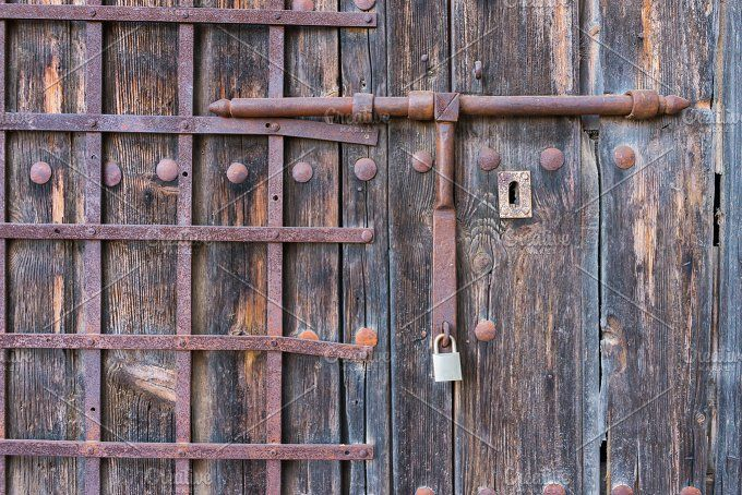 old wooden door by Fotoeventis on @creativemarket