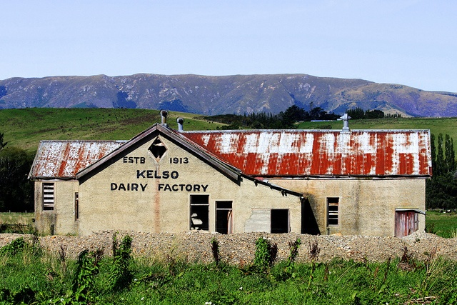 Old dairy factory, Kelso, Otago, New Zealand by brian nz, via Flickr